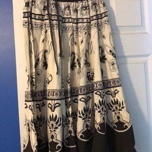 Dresses & Skirts - Brown and cream print skirt